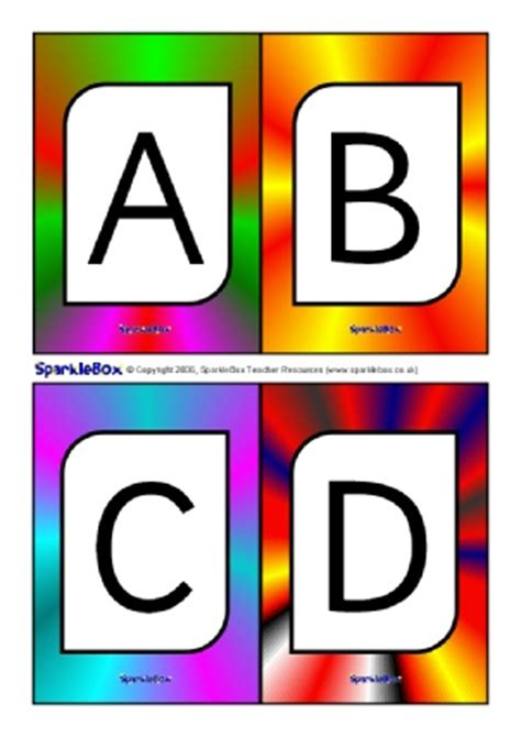 printable a4 alphabet flash cards uppercase letters capital letters activities games