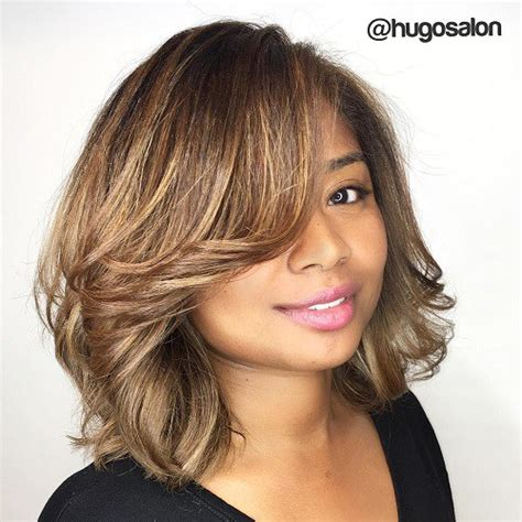 hairstyles that compliment a long face top 55 flattering hairstyles for round faces longer bob