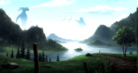 wallpaper hd anime landscape anime landscape wallpapers hd desktop and mobile