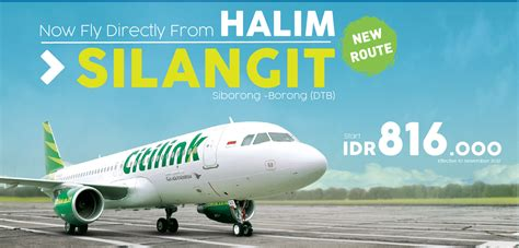 citilink silangit new route silangit