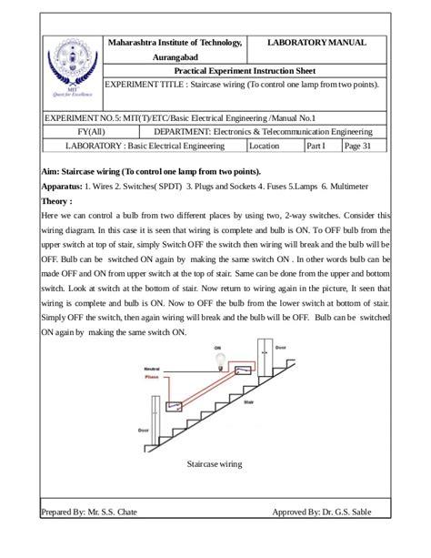 staircase wiring circuit diagram ppt wiring diagram