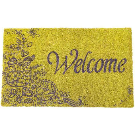 Purple Doormat by Entryways Purple Welcome 17 In X 28 In Non Slip Coir