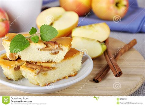 Apple Pie Cottage by Cottage Cheese And Apple Pie Royalty Free Stock Images
