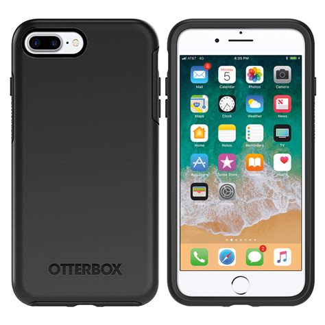 Otterbox Symmetry Series For Iphone 7 Plus Black otterbox symmetry apple iphone 8 plus 7 plus black