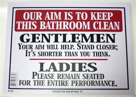 keep clean bathroom signs toilet aim quotes quotesgram