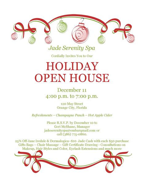 printable christmas open house invitations holiday open house clipart 67