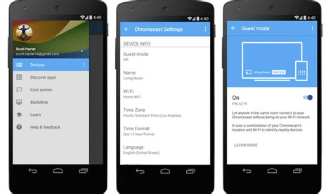 how to chromecast from android chromecast android app updated with guest mode intomobile