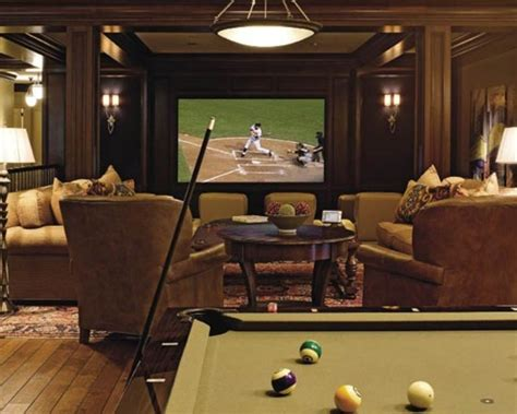Home Theater Room Decorating Ideas by Formal Home Theater Room Combined With Fun Family Room