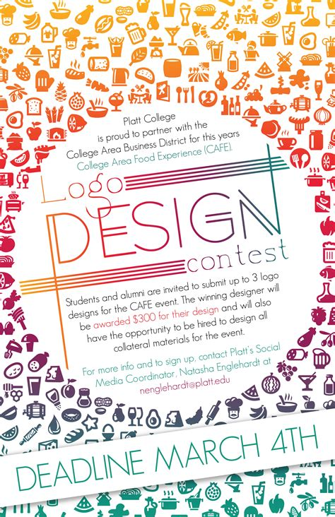 graphic design contest for high school students logo design contest for the college area food experience