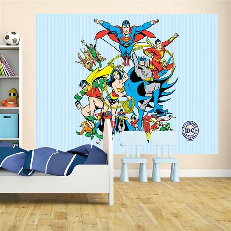 large wall murals dc comics original montage large wall mural