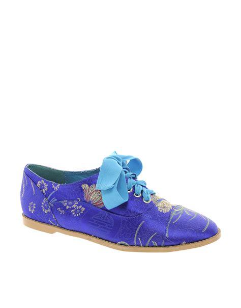 embroidered flat shoes asos asos magic carpet embroidered flat shoes in blue