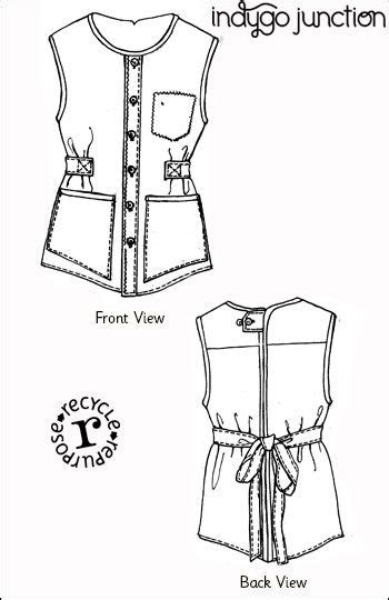 sewing pattern creator with indygo junction s upcycled apron just one man s shirt