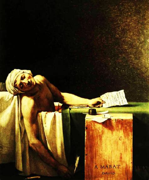 french revolution painting bathtub the death of marat painting