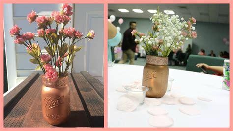 Diy Mason Jar Centerpiece Youtube How To Make Jar Centerpieces