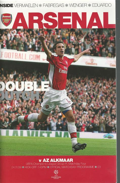 arsenal official arsenal uefa chions official matchday programme