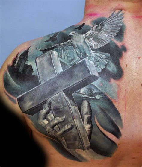 badass tattoos of crosses 100 badass tattoos for guys masculine design ideas