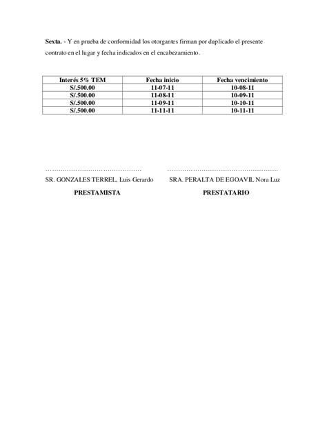 constancia de prestamo de dinero contrato de pr 233 stamo de dinero