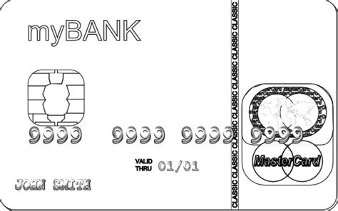 coloring book credits credit card black and white clipart clipart suggest