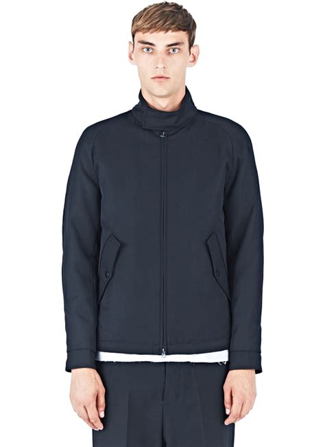 Jaket None acne studios brett twill jacket in blue for lyst