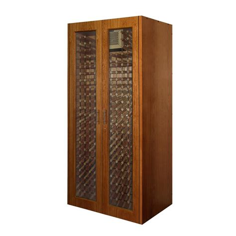 Vinotemp 280 Bottle Wine Cabinet With 2 Glass Doors Vino Glass Kitchen Cabinet Doors Home Depot