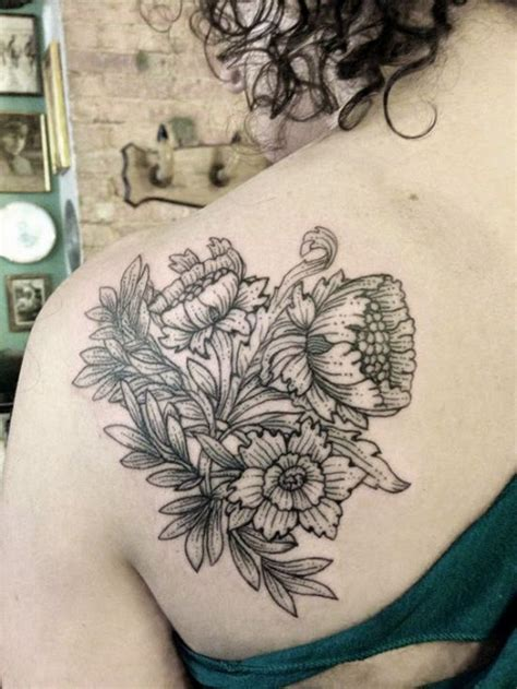 black and white flower tattoos 31 amazing black and white floral tattoos