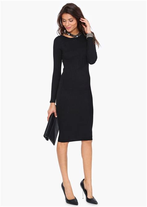 Dress Classic Black sweater dress sweaters sweater dresses style clothing sweater black dress