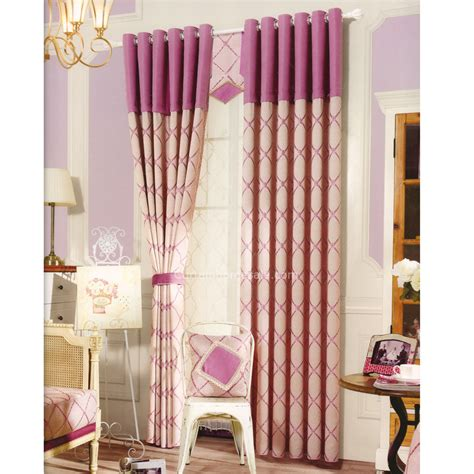 Pink And Beige Curtains Decor Pink And Beige Chenille Bedroom Curtains Room Darkening