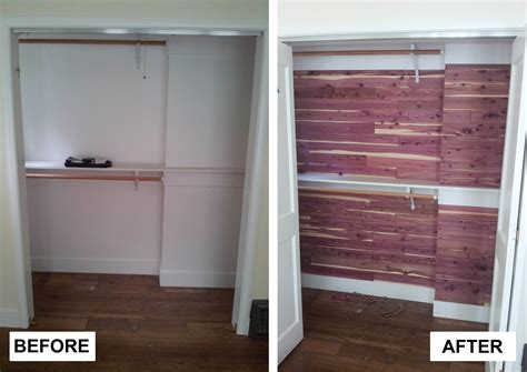 Cedar Planking For Closets by Before After Cedar Closet Meryl And Miller Llc
