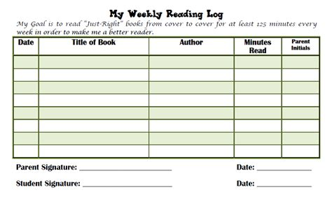 4th grade reading log template reading log grade 4 new calendar template site
