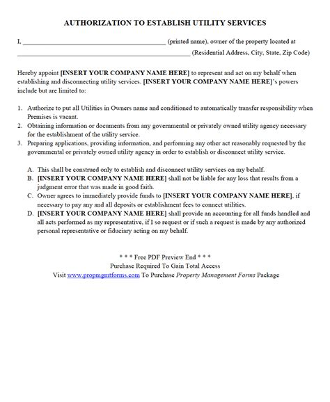 authorization letter property property management forms contracts agreements