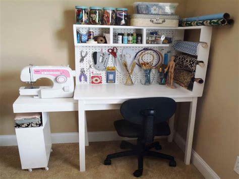 Craft Desk Storage Ideas by Craft Desk With Storage