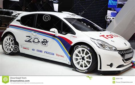 car maker peugeot 208 type r5 peugeot rally car editorial photography