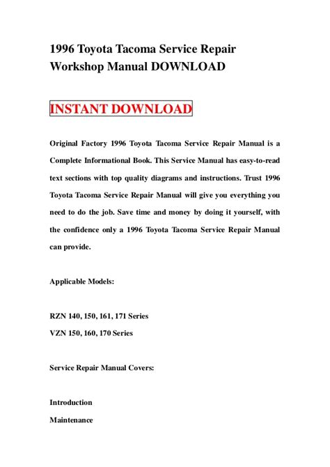 how to download repair manuals 1997 toyota tacoma xtra on board diagnostic system 1996 toyota tacoma service repair workshop manual download