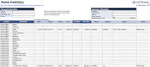 house contents list template 10 spreadsheet templates to organize your home