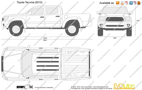 tacoma bed size the blueprints com vector drawing toyota tacoma