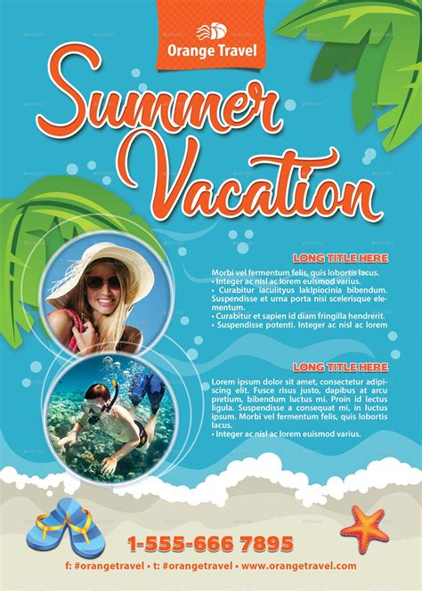 vacation flyer template summer vacation club flyer template 132 by 21min graphicriver