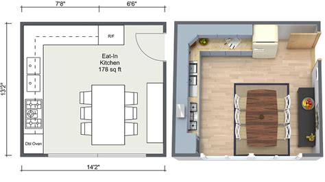 Eat In Kitchen Floor Plans kitchen ideas eat in kitchen layout in 2d and 3d floor