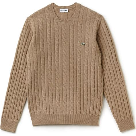 cable knit wool sweater lacoste cable knit s wool sweater in renaissance clair