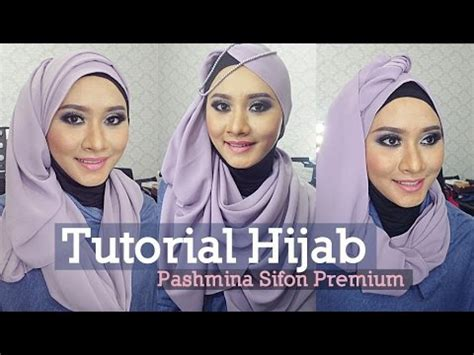 youtube tutorial pashmina 3 tutorial hijab pashmina sifon savanna mecca gaya hijab