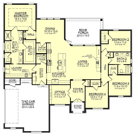 House Plans by 4 Bedrm 2506 Sq Ft European House Plan 142 1162