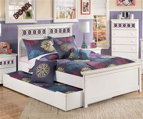 full size girl bedroom sets ashley furniture zayley full size bed with trundle for