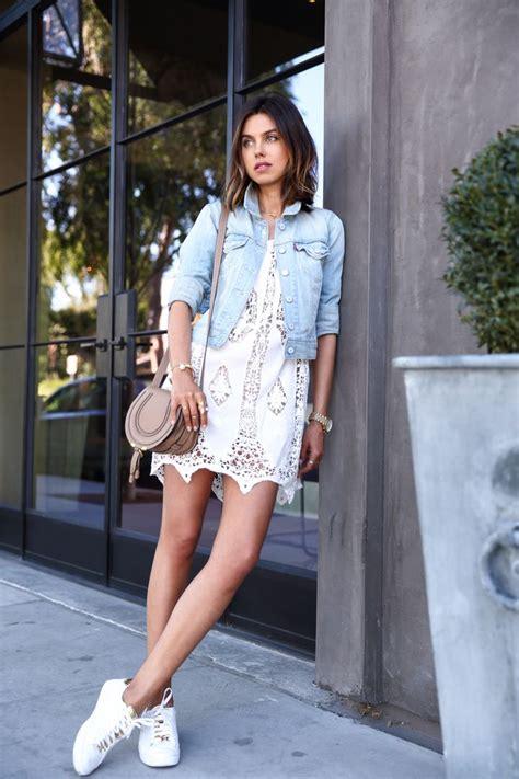 dress sneaker modern ways to wear vintage dresses denim jackets this
