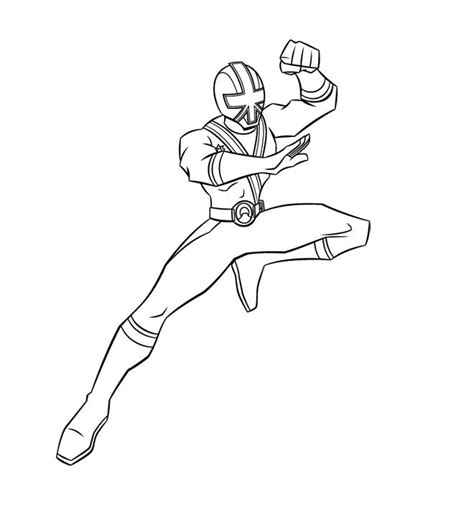red ranger samurai coloring pages coloring pages