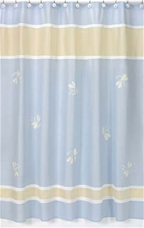 kids fabric shower curtains blue dragonfly dreams kids bathroom fabric bath shower