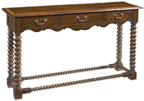 oak console with barley twist reproduction console table barley twist legs 3 drawers oak finish ebay