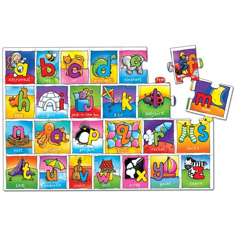 Letter Puzzles alphabet jigsaw puzzle