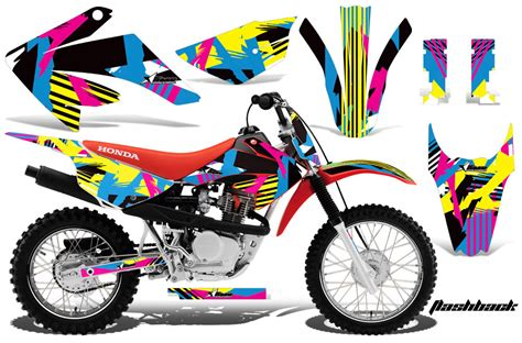 motocross bike stickers honda crf80 crf100 dirt bike decals 2011 2013 honda