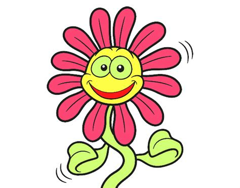 imagenes animadas flores dibujo de flor animada pintado por en dibujos net el d 237 a