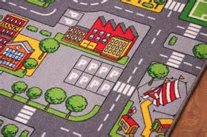 childs rug with roads children s rugs town road map city rug play mat ebay