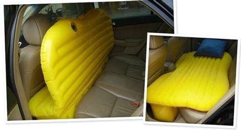 inflatable bed for your car inflatable car travel bed breakyourpiggybank